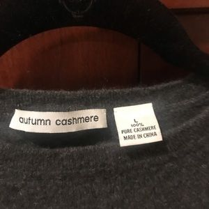 autumn cashmere snowboarding charcoal grey sweater